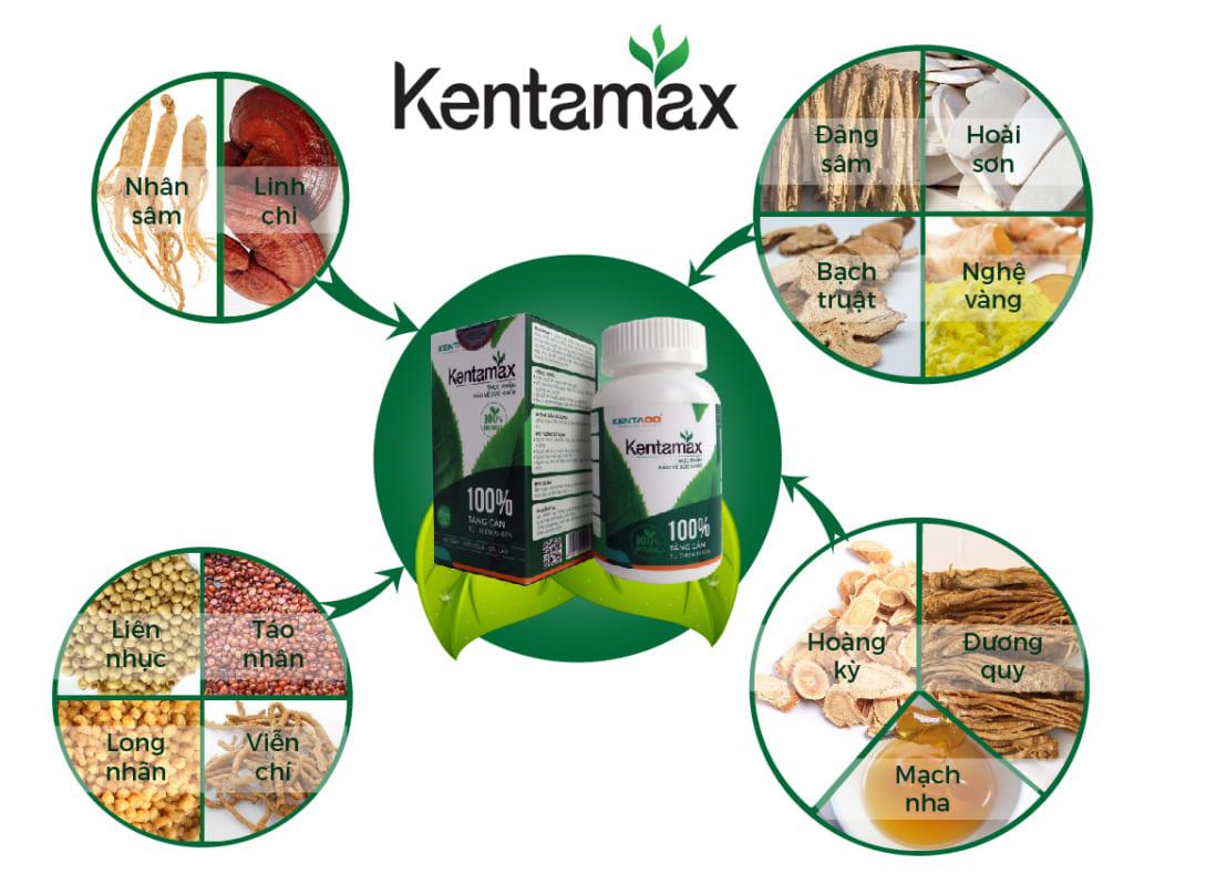Kentamax được bào chế từ 13 vị dược liệu quý