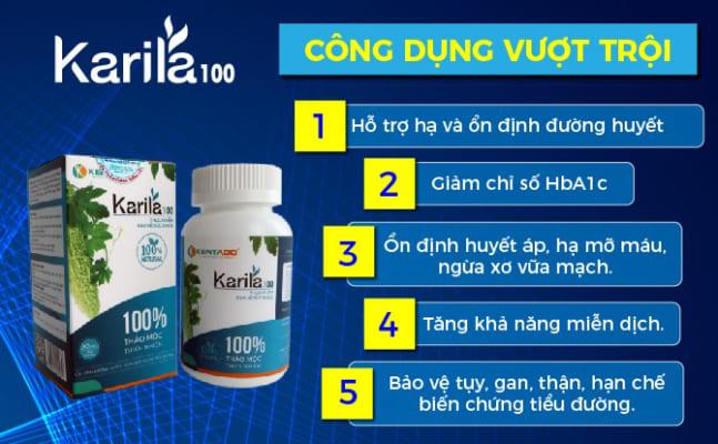 Karila mang lại nhiều công dụng vượt trội cho người bệnh tiểu đường